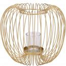 Metal lantern Lepe, D22cm, H20cm, gold